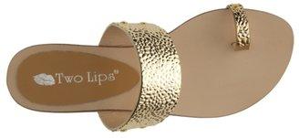 Two Lips Tunic Flat Sandal