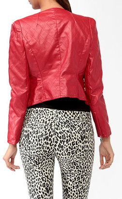 Forever 21 Quilted Moto Jacket