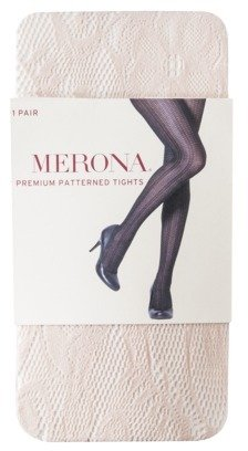 Merona Women's Premium Patterned Tights - Peach Floral