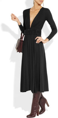 Michael Kors Wool-jersey midi dress