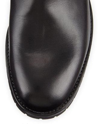 Manolo Blahnik Sulgamba Leather Ankle Boot