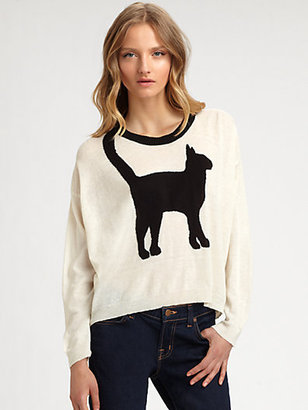 Eternal Child Cat Intarsia Sweater