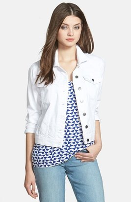 Petite Women's Kut From The Kloth 'Helena' Denim Jacket $74.50 thestylecure.com