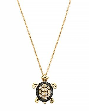 Bloomingdale's Diamond Turtle Pendant in 14K Yellow Gold, 0.15 ct. t.w.