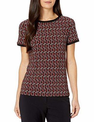 Anne Klein Women's Button Back TOP