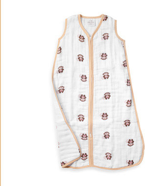 "Aden Anais adenTM by aden + anais® ""Safari Friend Monkey"" Cozy Muslin Sleeping Bag"