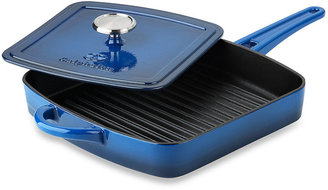 Calphalon Simply Enamel Cast Iron 11-Inch Grill Pans with Press