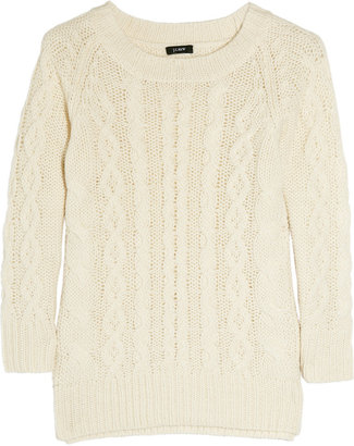 J.Crew Fisherman cable-knit sweater