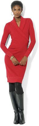 Lauren Ralph Lauren Dress, Long-Sleeve Shawl-Collar Sweater