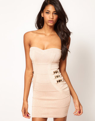 Lipsy Bandage Body-Conscious Dress with Studs