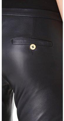 Balmain Pierre Leather Trumpet Pants