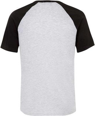 Topman Grey Columbus Raglan T-Shirt