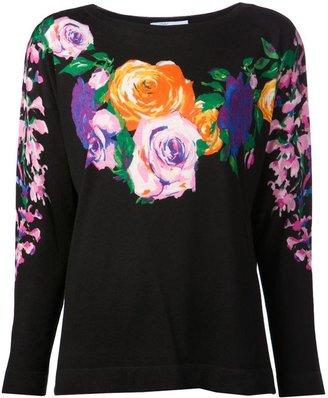 Blumarine floral sweater