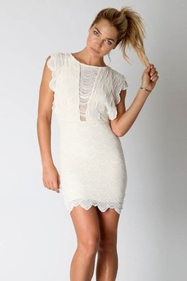Nightcap Clothing Caletto Dress in Ivory
