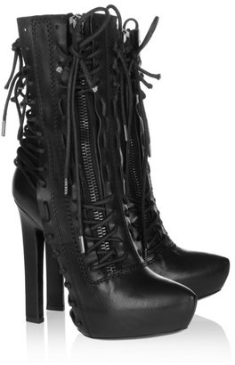 Haider Ackermann Lace-up leather ankle boots
