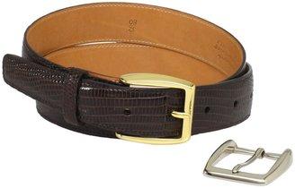 Trafalgar Men's 100% Leather Reptile-Textured Belt