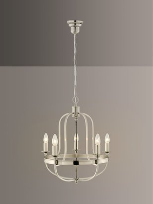 John Lewis & Partners Warwick Chandelier Ceiling Light, Brushed Chrome