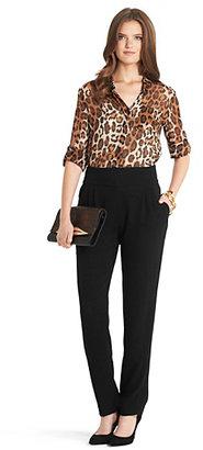 Lorelei Leopard Printed Chiffon Blouse In Vintage Leopard Bark