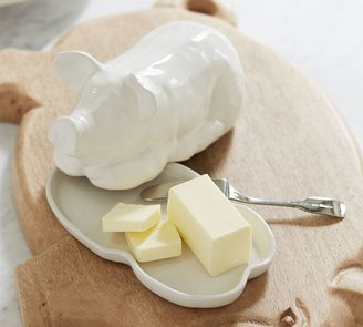 Pottery Barn Pig Butter Dish