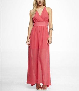 Express Sleeveless Surplice Wrap Maxi Dress
