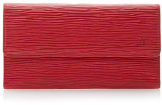 Louis Vuitton Vintage Red Epi Wallet Red