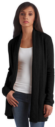 Lord & Taylor Petite Cashmere Open-Front Cardigan