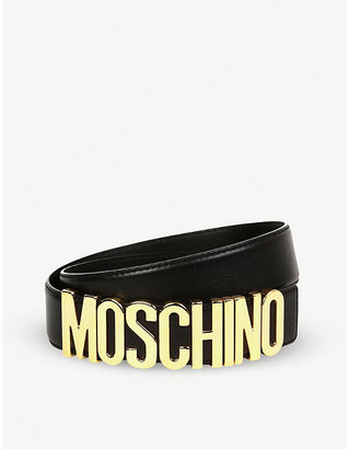13e80a5c96f Moschino Logo Belt - ShopStyle UK