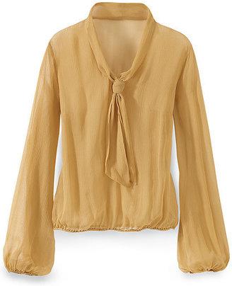 Newport News Tie-neck blouse