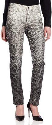 NYDJ Women's Sheri Skinny Ombre Cheetah Jean