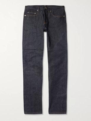 A.P.C. New Standard Dry Selvedge Denim Jeans - Men - Blue