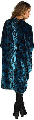 Winter Kate Printed Velvet Poncho