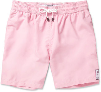 Mustique Pink House Mid-Length Swim Shorts