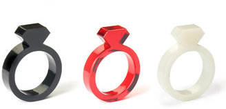 byAMT Diamond Ring Acrylic Red Set