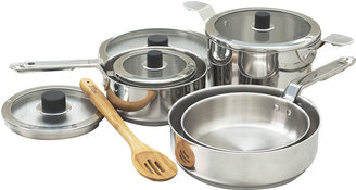 Asstd National Brand Natural Home 10-pc. Stainless Steel Cookware Set