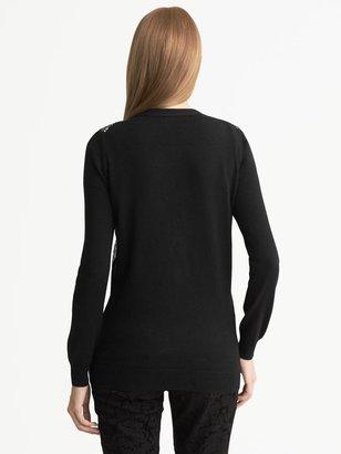 L'Wren Scott Collection Sequin V-Neck Cardigan