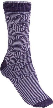 B.ella Brynn Jacquard Leaves Socks - Merino Wool Blend, Crew (For Women)