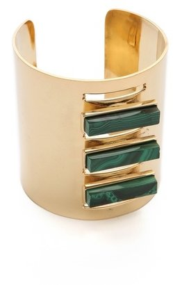 Kelly Wearstler Malachite Rod Cuff