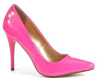 New Look Blink Neon Pink Pointed Court Shoes