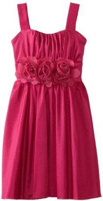 Ruby Rox Kids Girls 7-16 Taffeta Dress With Flowers