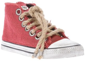 Dioniso jute hi-top sneaker