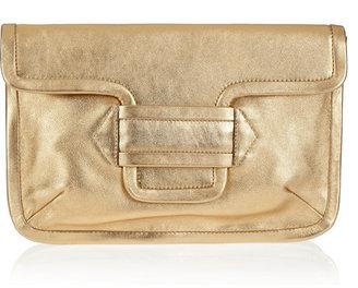 Pierre Hardy Two-tone metallic leather clutch