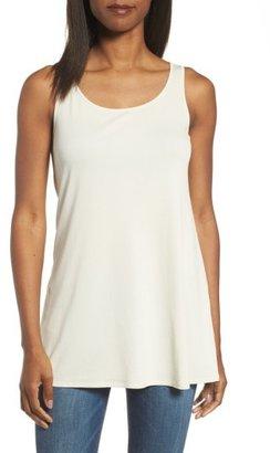 Women's Eileen Fisher Long Silk Tank $148 thestylecure.com