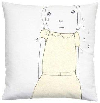 K Studio Crying Throw Pillow