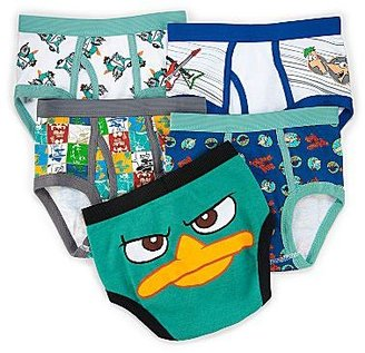 JCPenney Phineas & Ferb 5-pk. Briefs - Boys 4-20