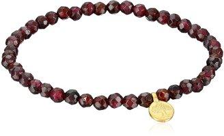 Satya Jewelry Red Garnet Gold Plated Tree of Life Stretch Bracelet