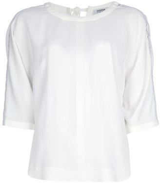 Sonia Rykiel Sonia By crochet sleeve t-shirt