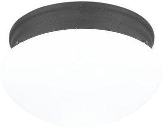 Webster Sea Gull Lighting 2-Light Peppercorn Flush Mount Fixture