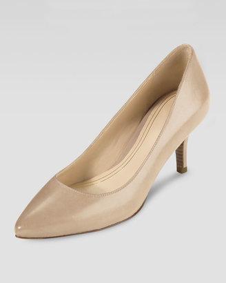 Cole Haan Chelsea Patent Low-Heel Pump, Sandstone