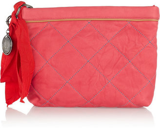 Lanvin Amalia quilted leather cosmetics case