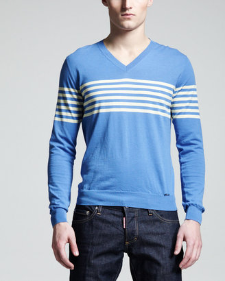 DSquared DSquared2 Striped V-Neck Sweater